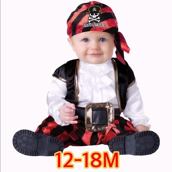 3579130541d Cap N Stinker Pint Size Pirate Baby Costume 12-18M
